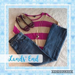 ✅NEW ITEM✅ Lands' End Mid Ride Boot Cut Jeans